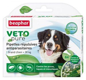 Beaphar – VETOpure, pipettes répulsives antiparasitaires – grand chien (30 kg