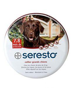 Seresto Collier antiparasitaire pour grands chiens plus de 8 kg