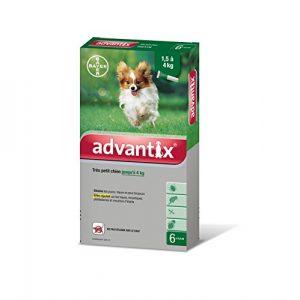 Advantix Très petit chien 1,5 à 4 kg- 6 pipettes antiparasitaires 0,4 ml