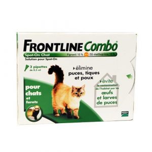 Frontline Combo Chat 3 Pipettes Antiparasitaire