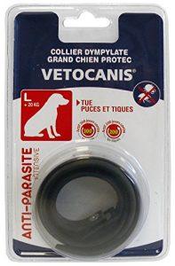 Vetocanis Collier Antiparasitaire pour Chien Noir Grand 7 Mois