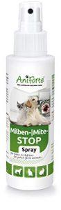 AniForte Anti Mite Spray 100 ml pour Chiens e Chats e Chevaux e Rongeurs, Anti acarien d'oiseau rouge, Anti-Parasite, Contre la Vermine