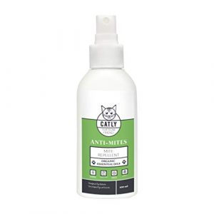 Antiparasitaire chat Catly Anti Mites   Accessoire pour chat   Spray huile de neem, rosemary oil 100ml   Alternative au collier anti puces chat