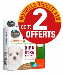 Biovetol – Offre Speciale – Comprimés Bien-être Intestinal Chiot/Petit Chien – x10 Dont 2 OFFERTS