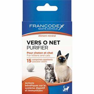 Francodex Comprimés vers O Net pour Chaton et Chat x15