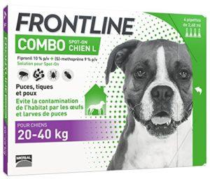 FRONTLINE Combo Chien – Anti-puces et anti-tiques pour chien – 20-40kg – 4 pipettes