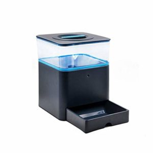 GZQDX Gamelle, Automatique Pet Feeders Enregistrement et écran LCD Intelligent Chiens Chats Distributeur Automatique des Aliments Bowl (Color : Blue)