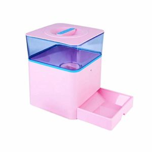 GZQDX Gamelle, Automatique Pet Feeders Enregistrement et écran LCD Intelligent Chiens Chats Distributeur Automatique des Aliments Bowl (Color : Pink)