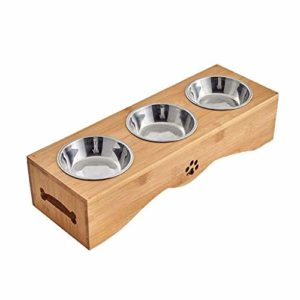 GZQDX Gamelle, Durable Gamelle en Acier Inoxydable Bowl for Chats Eco-Friendly Bols for Chiens et 3 Bowl Feeder Dog