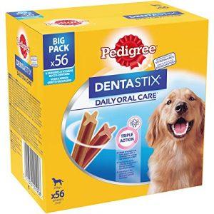 Pedigree Dentastix – Friandises pour grand chien, 56 bâtonnets à mâcher pour l'hygiène bucco-dentaire (8 sachets de 7 Sticks)