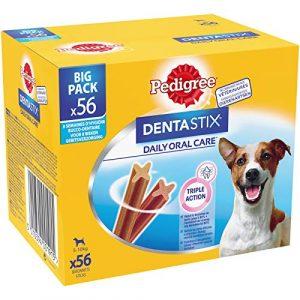 Pedigree Dentastix – Friandises pour petit chien, 56 bâtonnets à mâcher pour l'hygiène bucco-dentaire (8 sachets de 7 Sticks)