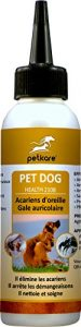 Peticare Chien Bio Traitement Anti-Acariens des Oreilles – Nettoyant Auriculaire, Gouttes Éliminent Parasites, Oeufs & Larves, Soulage Inflammation, Solution 100% naturel – petDog Health 2108 (500 ml)