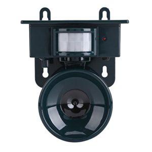 Solaire Répulsif Chat Ultrason Les lumières Clignotantes de LED et Le Bruit d'alarme extérieur pour Repousser Animaux Nuisibles des écureuils, des taupes, des rats