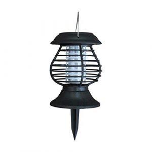 WSJTT Zapper, tueur d'insectes électronique, tueur de moustiques solaire, tueur de moustiques anti-moustiques pour le jardin, imperméable, anti-moustiques, éclairage à double usage lampe, tueur d'inse