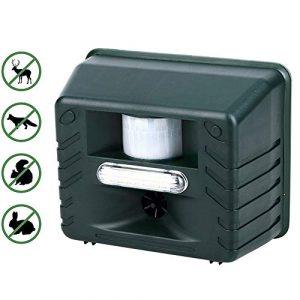 YCGJ Ultrasonic Pest Repeller – Répulsif Animal à ultrasons avec répulsif Flash avec télécommande 4 clés pour Cerfs, rongeurs, Chats, Chiens, Renards, Souris, Oiseaux, moufettes, etc.