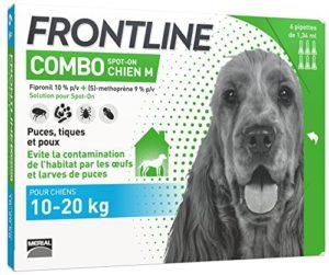 FRONTLINE Combo Anti-parasitaire Puce et Tique pour Chien moyen de 10-20 kg- 6 Pipettes