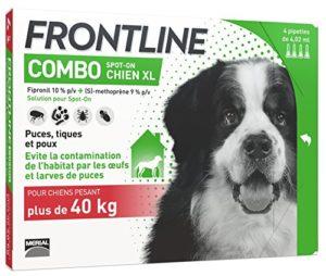 FRONTLINE Combo Anti-parasitaire Puce et Tique pour Très grand Chien de 40-60 kg- 4 Pipettes