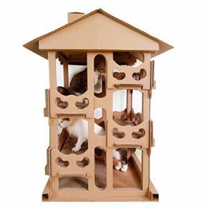 no brand Griffoir, CP-087 DIY Quatre étages Cat Villa Cat Scratch Papier ondulé Conseil Litière Griffe Jouet, Jouets Chat