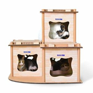 no brand Griffoir, CP-178 Imprimé Cat Villa de Papier ondulé Cat Scratch Board Litière Broyage Griffe Jouet, Jouets Chat