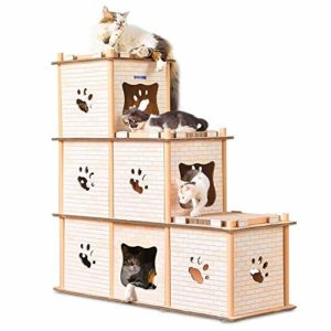 no brand Griffoir, CP-205 DIY Double Litière Stepwise Papier ondulé Cat Scratch Board Broyage Claw Jouet, Jouets Chat