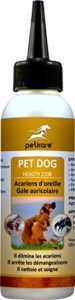 Peticare Chien Bio Traitement Anti-Acariens des Oreilles – Nettoyant Auriculaire, Gouttes Éliminent Parasites, Oeufs & Larves, Soulage Inflammation, Solution 100% naturel – petDog Health 2108 (250 ml)