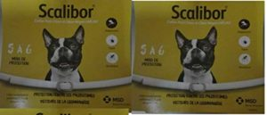 Scalibor Lot de 2 Colliers Anti-parasitaire pour Chiens de Petite et Moyenne Taille 48 cm