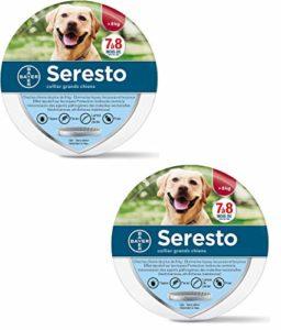 Seresto Chien – Collier Anti-Puces et Anti-Tiques pour Grands Chiens – 8KG Et Plus- 2 Pack