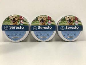Seresto di Bayer Lot de 3colliers antiparasitaire pour chien, jusqu'à 8kg, contre les puces et les tiques, 70cm