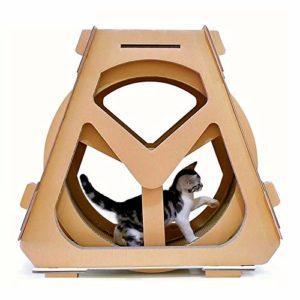Griffoir, Eau Grande Roue en Forme de Chat Grimpeur Papier ondulé Cat Scratch Board Broyage Claw Jouet, Taille: 61x58x29cm, Jouets Chat