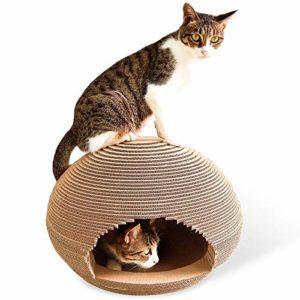 no brand Griffoir, CP-091 en Forme de Boule de Papier ondulé Cat Scratch Board Litière Broyage Griffe Jouet, Jouets Chat