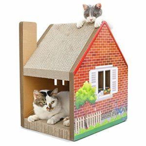no brand Griffoir, CP-187 Cheminée Maison Litière en Forme de Papier ondulé Cat Scratch Broyage Claw Jouet Conseil, Jouets Chat