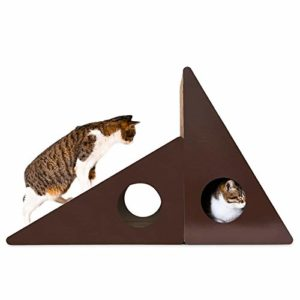 no brand Griffoir, Papier Cloche Triangular Mur Corrugated Cat Scratch Board Litière Broyage Griffe Jouet, Jouets Chat