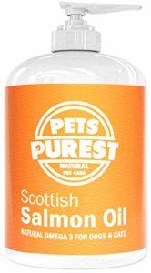 Pets Purest 100% Naturel Premium Qualité Alimentaire Pure écossais Saumon Huile Omega 3 supplément pour chiens, Chats, Chevaux & animaux de compagnie. Favorise la Manteau, Joint et Brain santé