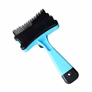 SMX Cat Mur Brosse for Animaux Massage Épilation Brosse Chat Chaton Coin Peigne Délestage Parage Auto Toilettage (Color : Blue)