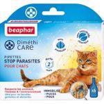 Beaphar – DiméthiCARE, pipettes stop parasites – chat – 6 pipettes