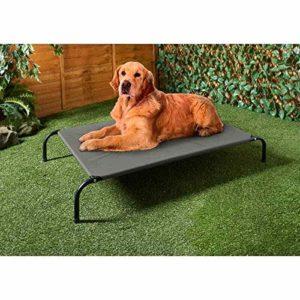 Scotvision Barkhaus Lit surélevé pour chien Garde le frais et confortable pour l'intérieur et l'extérieur Gris