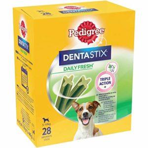 Pedigree Dentastix Fresh – Friandises pour petit chien, 112 bâtonnets à mâcher pour l'hygiène bucco-dentaire (16 sachets de 7 Sticks)