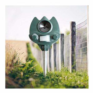ZXCV Répulsif ultrasonique pour Animaux, répulsif pour Chiens et Chats, Lutte antiparasitaire pour la Maison, Le Jardin, la pelouse,Vert