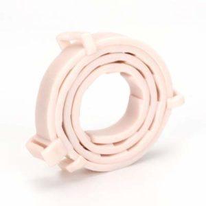 CXWK Collier Anti-puces Anti-puces pour Animaux de Compagnie Collier Anti-Vermifuge pour Animaux de Compagnie, Blanc, Sac de 62 cm (pour Chiens)
