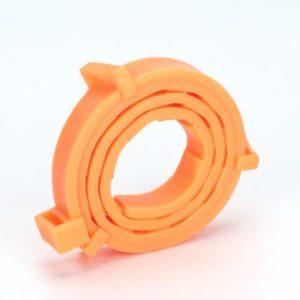 CXWK Collier Anti-puces Anti-puces pour Animaux de Compagnie Collier Anti-Vermifuge pour Animaux de Compagnie, Orange, boîte de 38 cm (pour Chats)