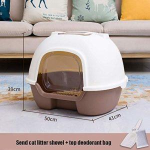 Litière for chats flip Plateau couvert, Litière gros chat, Litière, chat à litière toilettes boîte, litière Jumbo à capuchon Chat Plateau avec couvercle, Grand Litière Animaux Litterbox Enclosed kyman