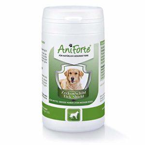 AniForte Tique Bouclier – Anti Tiques 60 Capsules pour Chiens de Taille Moyenne, Anti-parasitaire, Naturel, Tuer, Prévenir et Contrôler