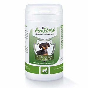 AniForte Tique Bouclier – Anti Tiques 60 Capsules pour Petits Chiens, Anti-parasitaire, Naturel, Tuer, Prévenir et Contrôler