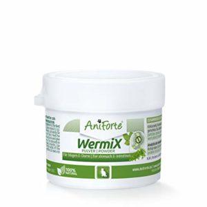 AniForte WermiX poudre pour chats 25g – produit naturel avant, pendant et après une infestation de vers avec des saponines, de l'absinthe, des herbes naturelles harmonisent l'estomac et l'intestin