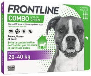 FRONTLINE Combo Chien – Anti-puces et anti-tiques pour chien – 20-40kg – 6 pipettes
