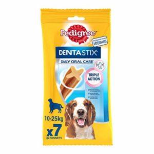 Pedigree Dentastix – Friandises pour moyen chien, 70 bâtonnets à mâcher pour l'hygiène bucco-dentaire (10 sachets de 7 Sticks)