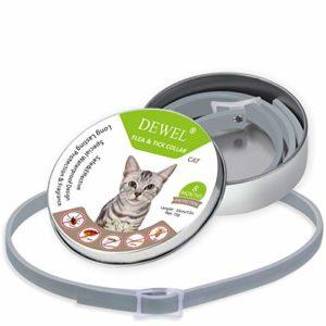 WeiLi Collier Antiparasitaire externe pour chat contre les puces les tiques et les moustiques (Chat 180 jours)