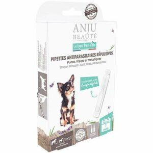 Anju Pipettes Antiparasitaires Répulsives Puces/Tiques/Moustiques X 3 Bien Etre pour Chiot