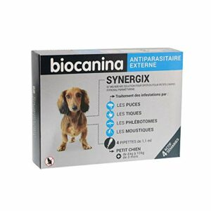 BIOCANINA – SYNERGIX Petit Chien 67MG 4 pipettes Antiparasitaire Externe