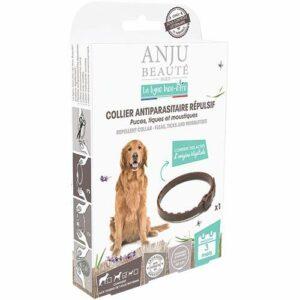 Anju Collier Antiparasitaire Répulsif Moyens Bien Etre Puces/Tiques/Moustiques pour Chien 60 cm